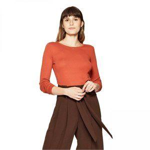 NWT Long Sleeve Crew Neck T-Shirt XL Orange